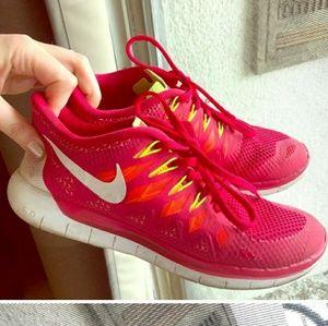 Nike bright multi-color sneakers